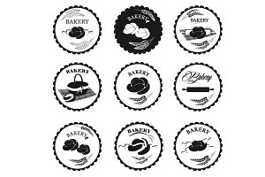 Bakery logos, labels
