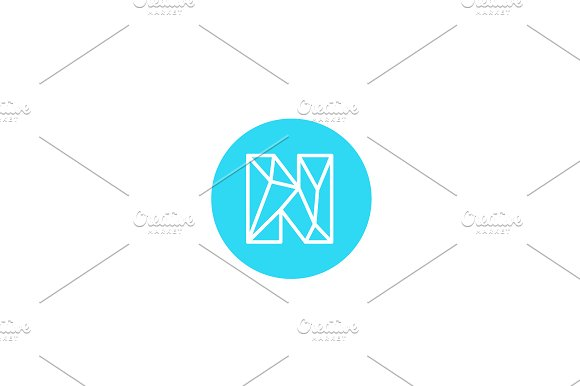 Simple line letter N logotype