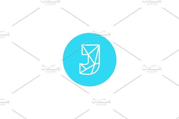 Simple line letter J logotype