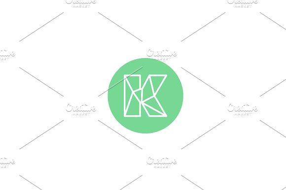 Simple line letter K logotype