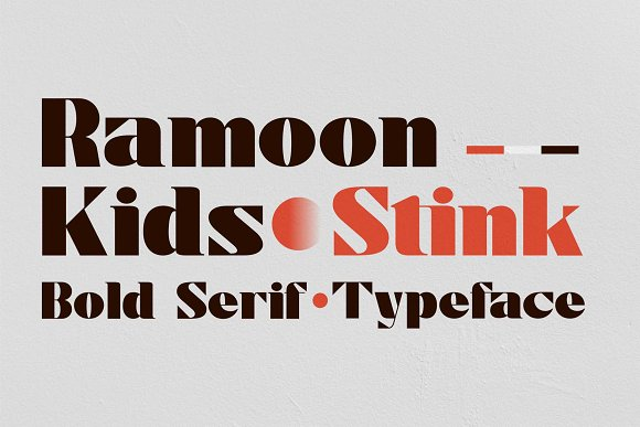 Stink / Bold Serif Font in Serif Fonts - product preview 4