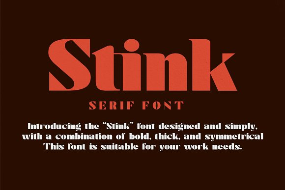 Stink / Bold Serif Font in Serif Fonts - product preview 5