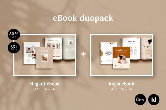eBook duopack / CANVA, INDD in Magazine Templates - product preview 6
