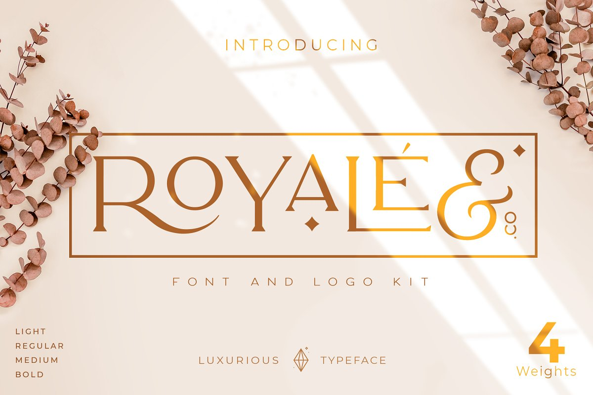 Royale Luxurious Typeface + LOGOS