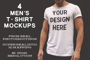 4K HD Men's T-Shirt Mockups