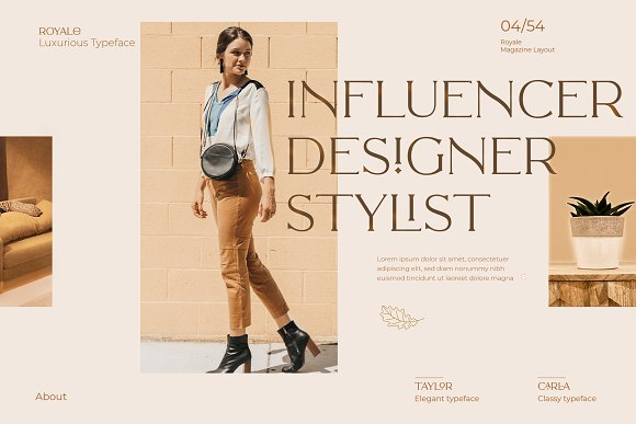 Royale Luxurious Typeface + LOGOS in Serif Fonts - product preview 1
