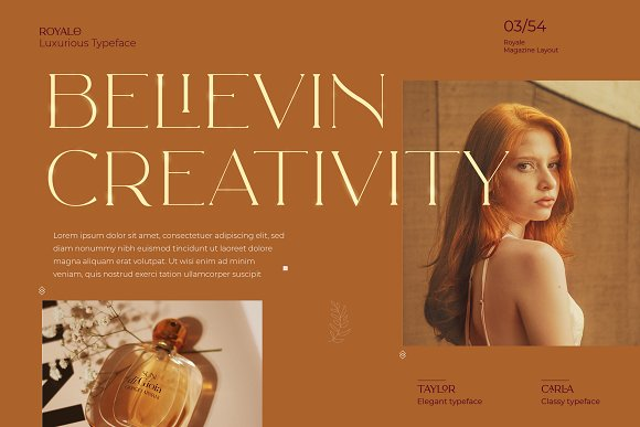Royale Luxurious Typeface + LOGOS in Serif Fonts - product preview 2