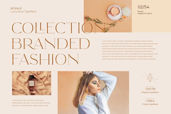 Royale Luxurious Typeface + LOGOS in Serif Fonts - product preview 3