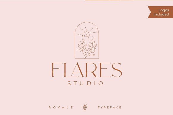 Royale Luxurious Typeface + LOGOS in Serif Fonts - product preview 4