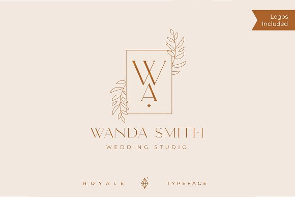 Royale Luxurious Typeface + LOGOS in Serif Fonts - product preview 8