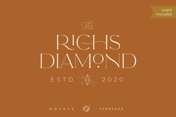 Royale Luxurious Typeface + LOGOS in Serif Fonts - product preview 10