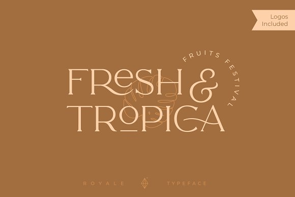 Royale Luxurious Typeface + LOGOS in Serif Fonts - product preview 12