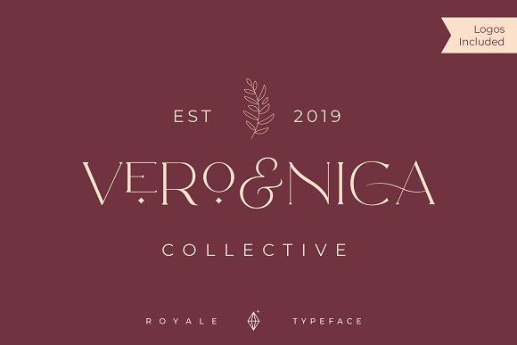 Royale Luxurious Typeface + LOGOS in Serif Fonts - product preview 14