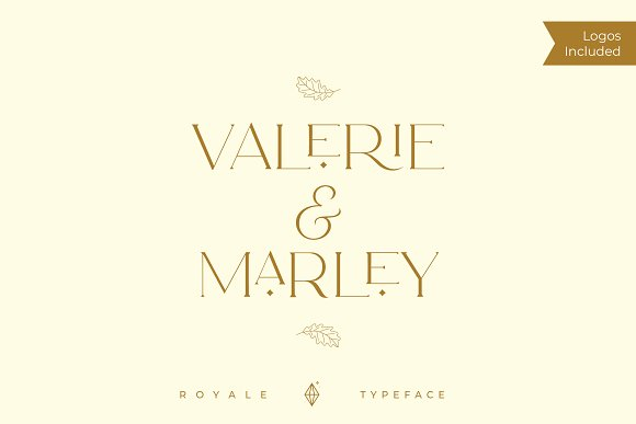 Royale Luxurious Typeface + LOGOS in Serif Fonts - product preview 16