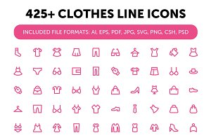 425+ Clothes Line Icons