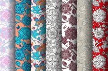 7 Floral Seamless Patterns