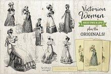 Victorian Women Fashion Graphics