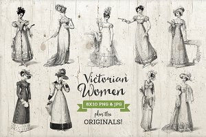 9 Victorian Era Dress Illustrations