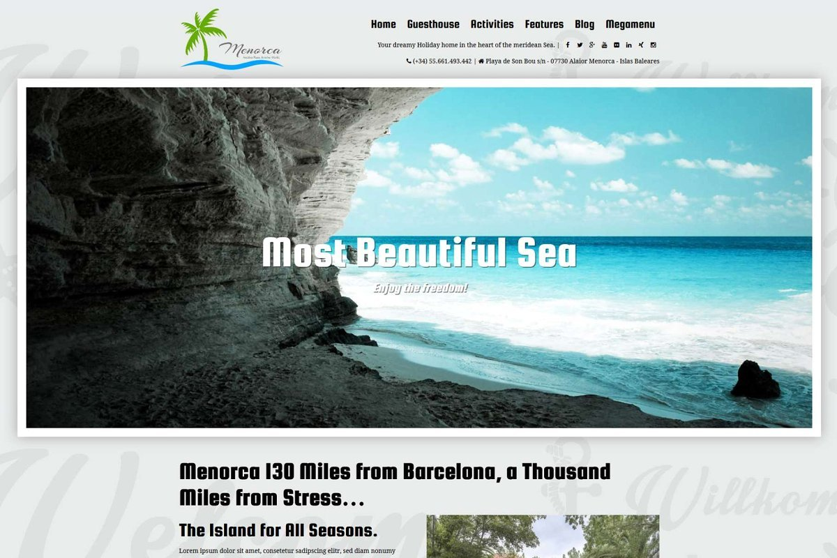 Menorca - Vacation WordPress Theme