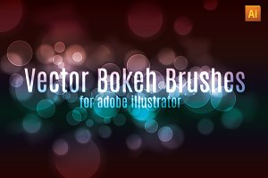 Vector Bokeh Effect Brush Set