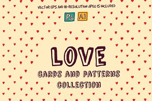 Vector collection about love