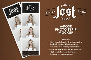 Photo Strip Mockup