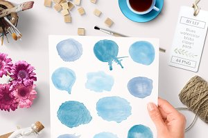 Watercolor Painted Graphics Clipart