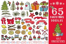 65 Christmas doodle decoration kit