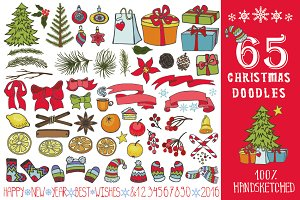 65 Christmas doodle decoration kit