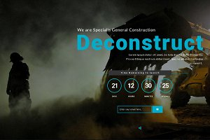 Deconstruct Coming Soon template