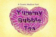 Yummy Bubble Tea Font