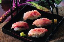 Japanese sushi on a black background.jpg