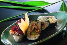 sushi on a saucer.jpg