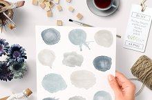 Watercolor Blob Splattered Clip art