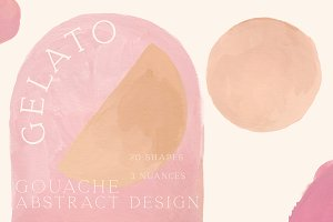 Gelato Gouache |Abstract Shapes