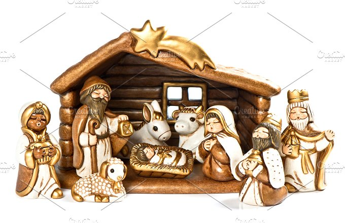 Christmas crib. Nativity scene - Holidays