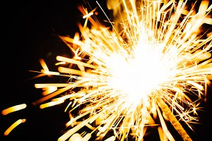 Bright Christmas  sparkler closeup