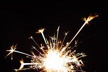 Bright Christmas  sparkler closeup