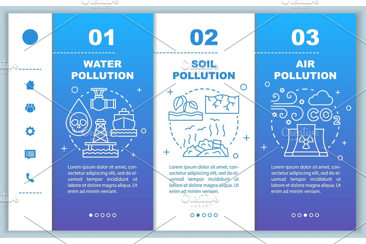 Pollution mobile web pages