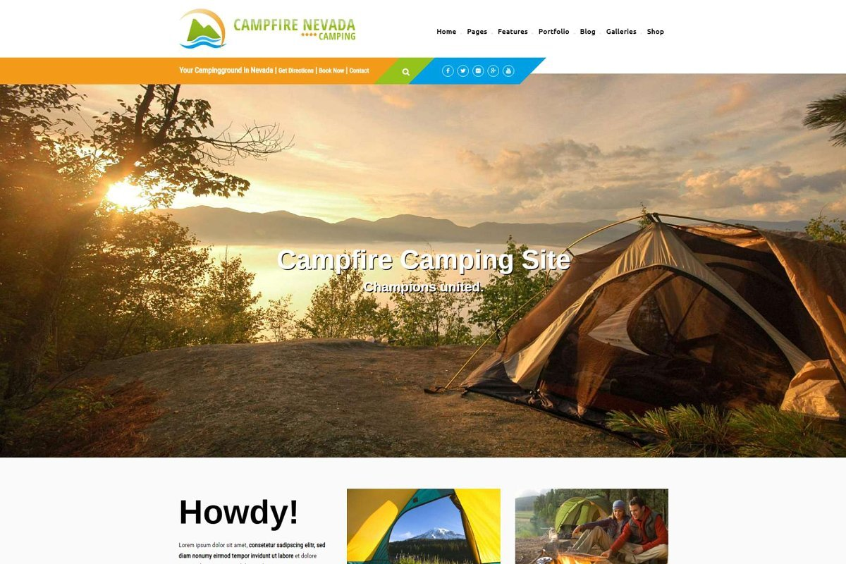 Campfire - Campsite WP Theme