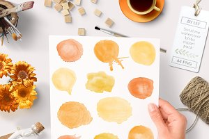 Sunny Watercolor Graphics Blobs