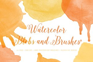 Watercolor Photoshop Brushes Hi Res