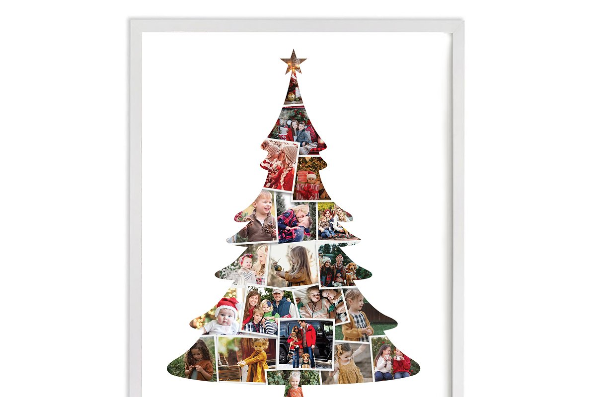 Christmas tree  photo collage