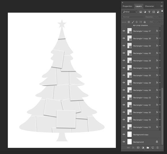 Christmas Tree Photo Collage Creative Photoshop Templates Creative Market