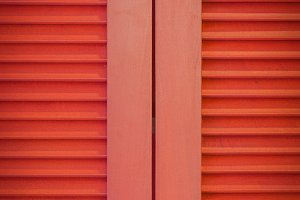 Red Louvred Shutters