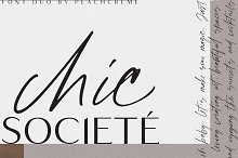 Chic Societe// Stylish Font Duo
