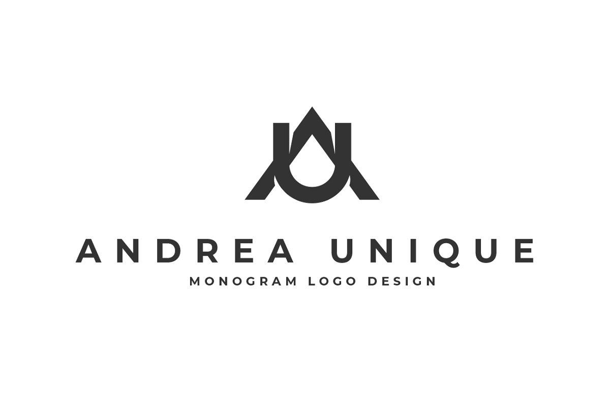 A U Letter Logo AU Monogram Modern in Logo Templates