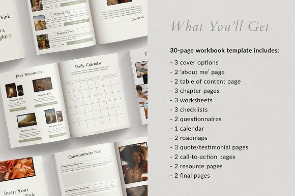 Course Creator Workbook | Lafayette in Magazine Templates - product preview 4