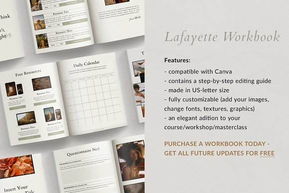 Course Creator Workbook | Lafayette in Magazine Templates - product preview 5
