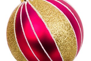 Christmas baubles isolated